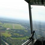 Landeanflug Flugplatz Essen/Mülheim