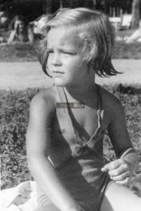 Romy Schneider am Wörthersee 1944